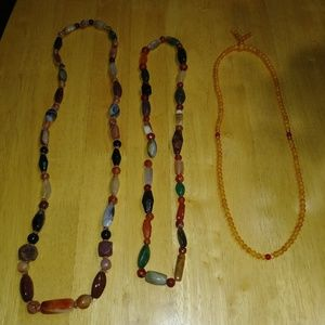 Lot of 3 beaded necklaces